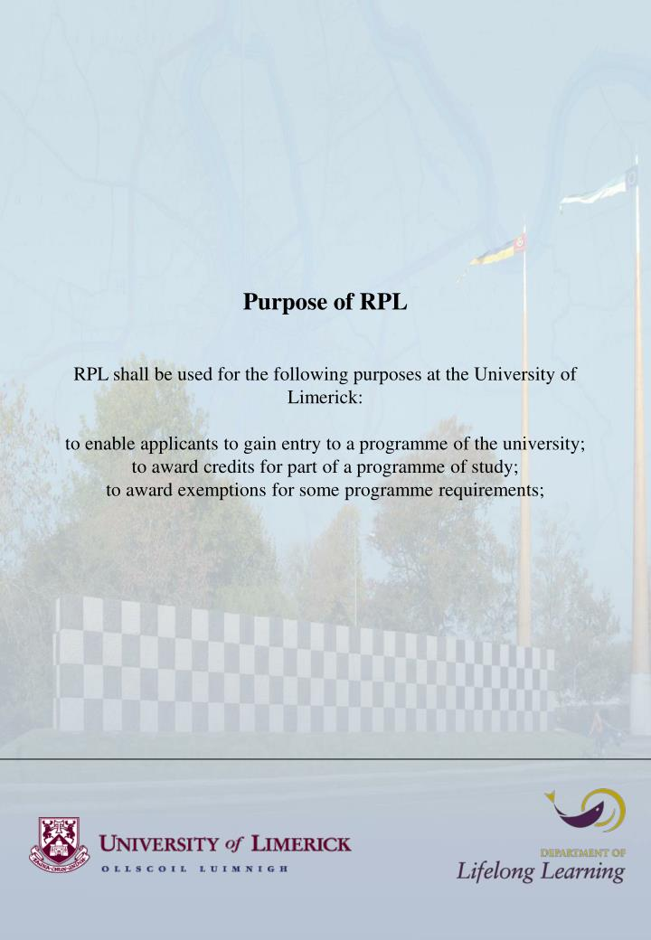 Purpose of RPL