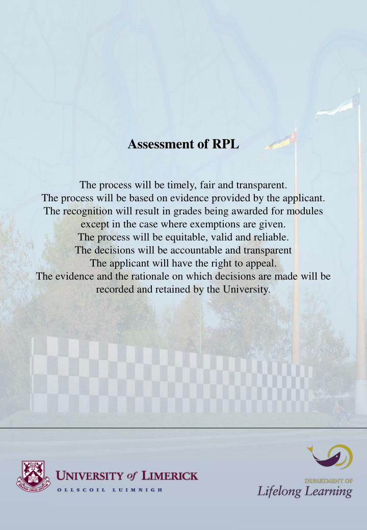 Assessment of RPL