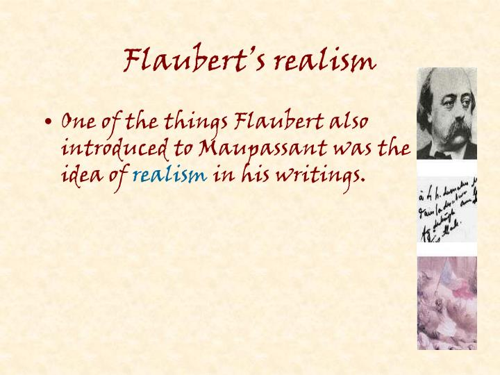 Flaubert's realism