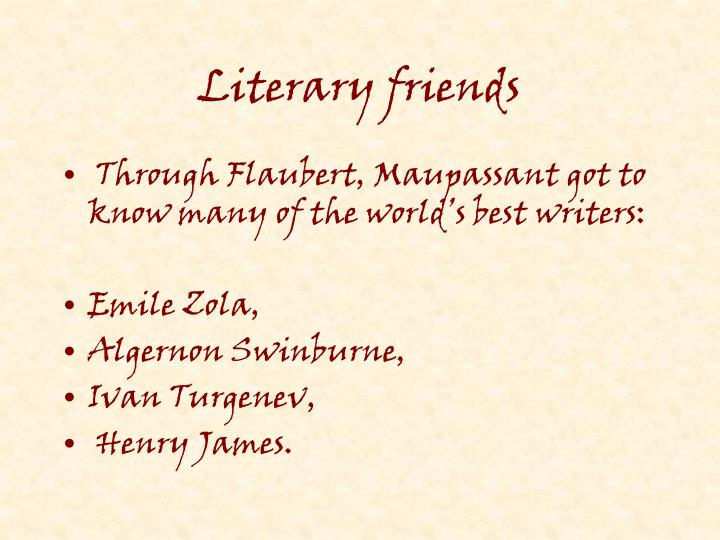 Literary friends