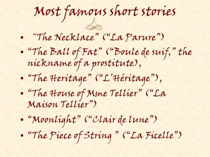 Most famous short stories