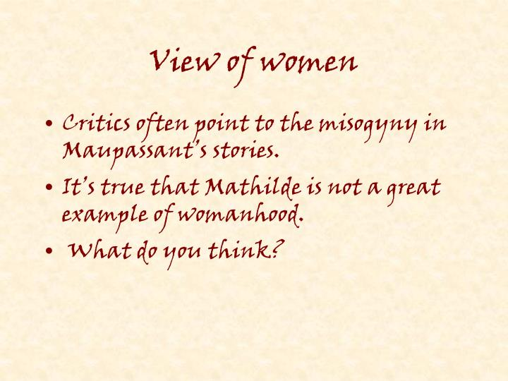 View of women