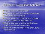 deinstall demolition services