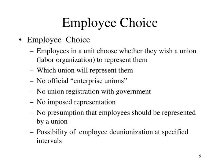 Employee Choice