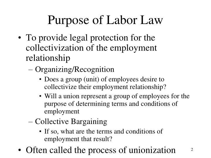 Purpose of Labor Law