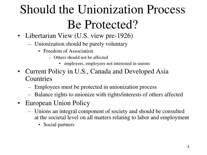 Should the Unionization Process  Be Protected?