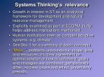 systems thinking s relevance