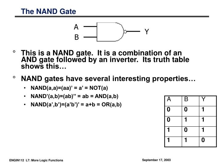 The NAND Gate