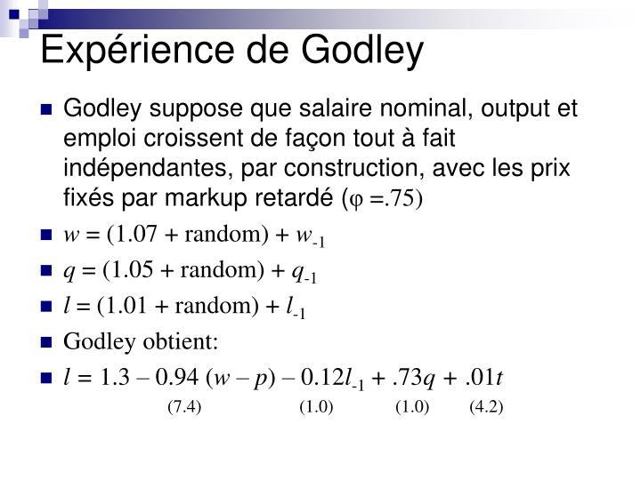 Expérience de Godley