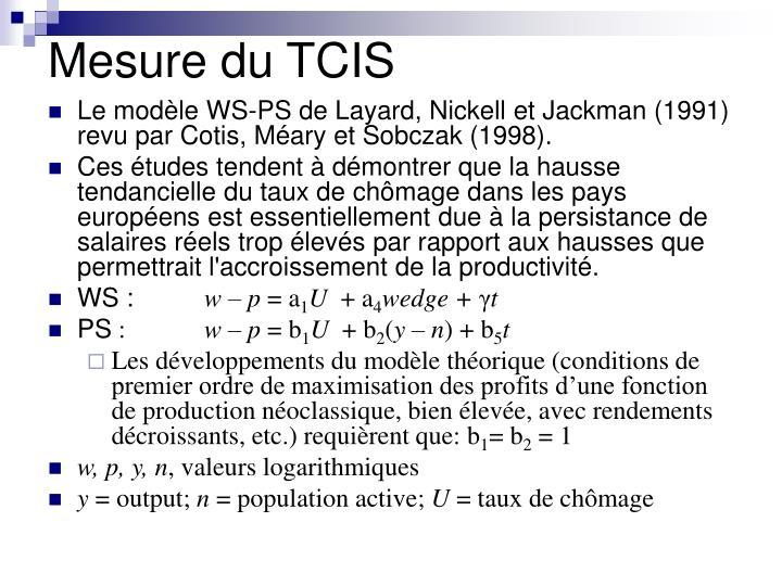 Mesure du TCIS