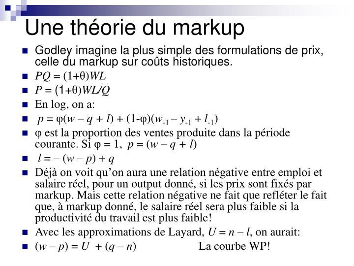 Une théorie du markup