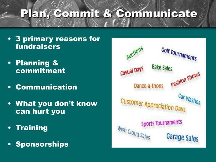 Plan, Commit & Communicate