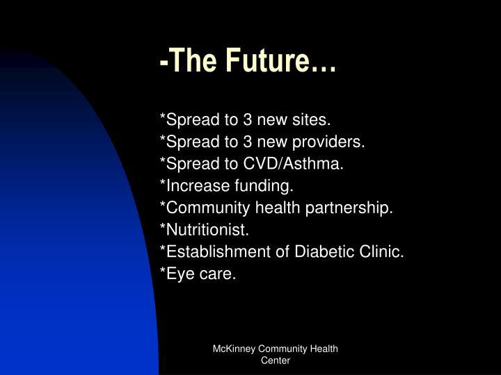 -The Future…
