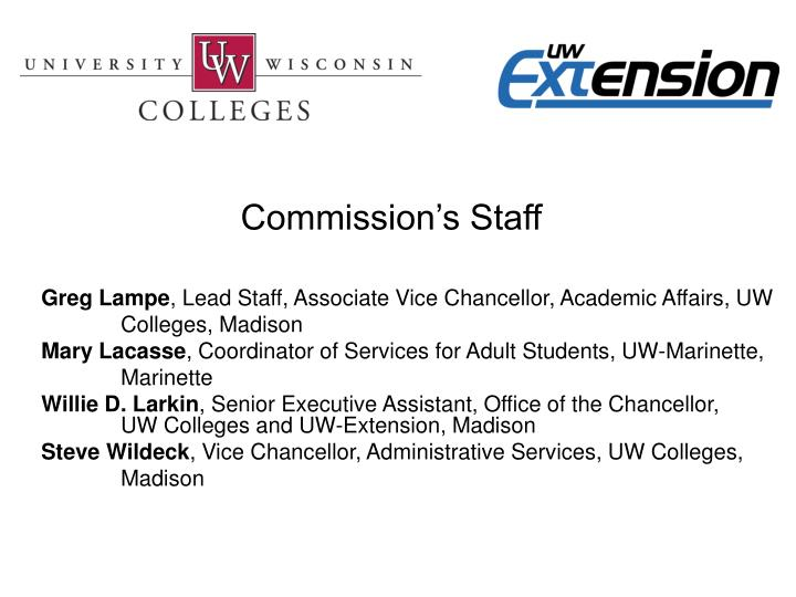 Commission's Staff