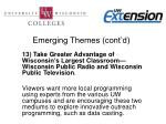 emerging themes cont d11