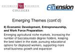 emerging themes cont d6