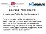 emerging themes cont d7