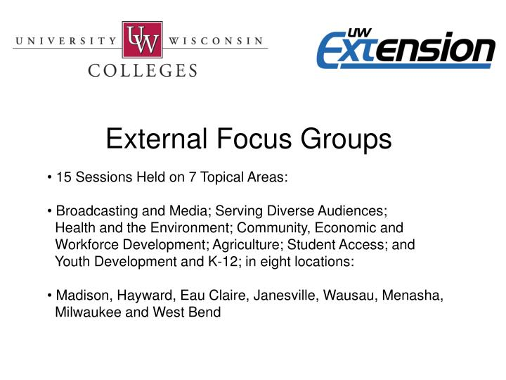 External Focus Groups