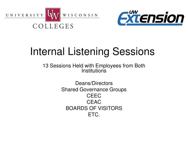 Internal Listening Sessions