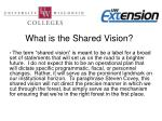 what is the shared vision