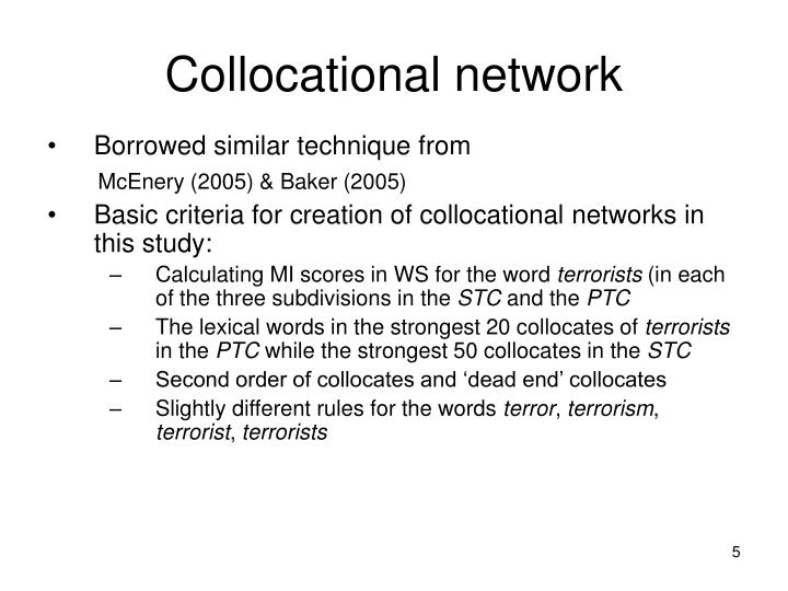 Collocational network