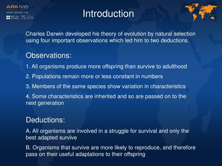 an introduction to the importance of true evolution theory by darwin 43 49 winsor taxonomy and darwin s evolution introduction mously important to charles darwin darwin s presentation of his theory in the.
