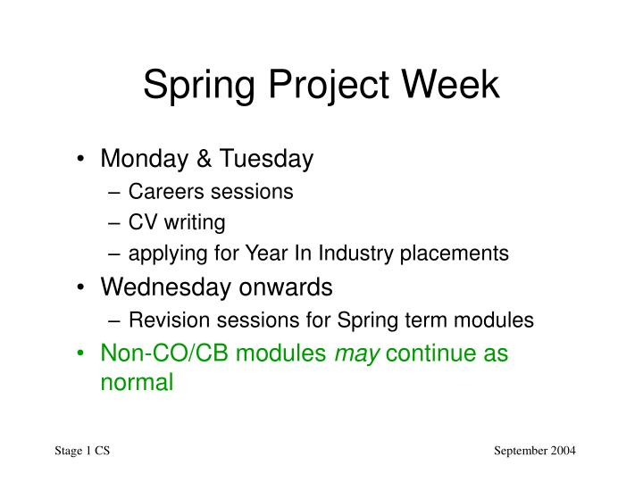 Spring Project Week