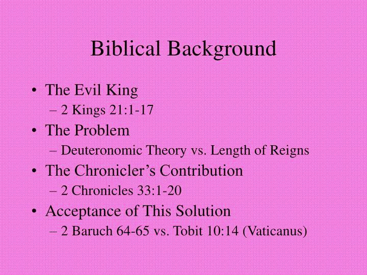 Biblical Background