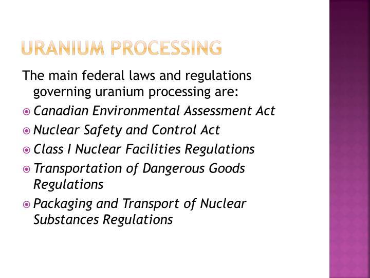 Uranium processing