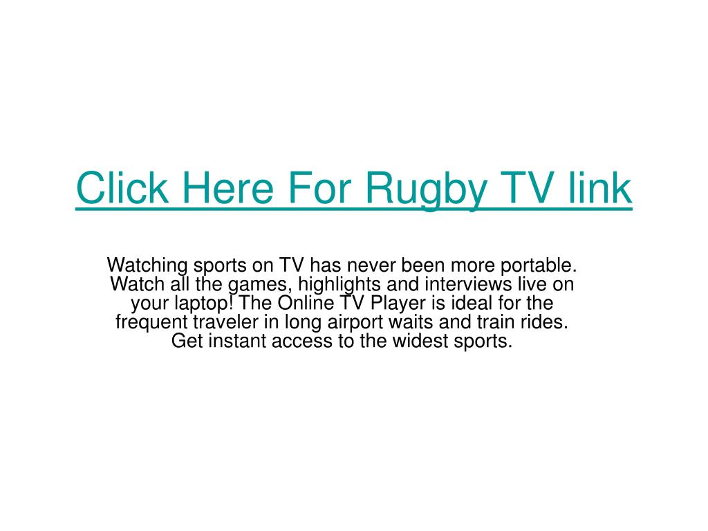 Click Here For Rugby TV link