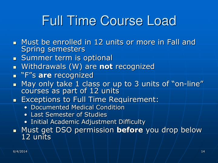 Full Time Course Load