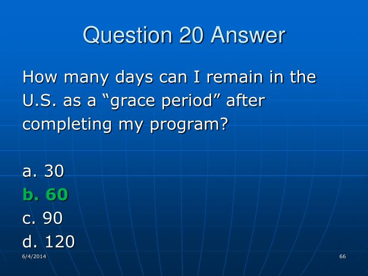Question 20 Answer