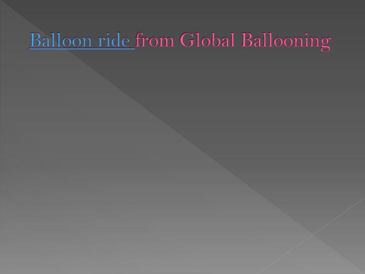 balloon ride from global ballooning n.