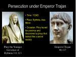persecution under emperor trajan