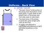 uniforms back view