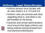 uniforms legal styles designs