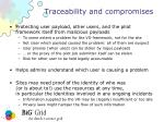 traceability and compromises1