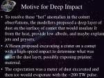 motive for deep impact
