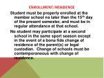 enrollment residence5