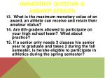 mandatory question answer session4