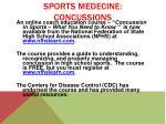 sports medecine concussions