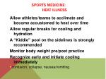 sports medicine heat illness2