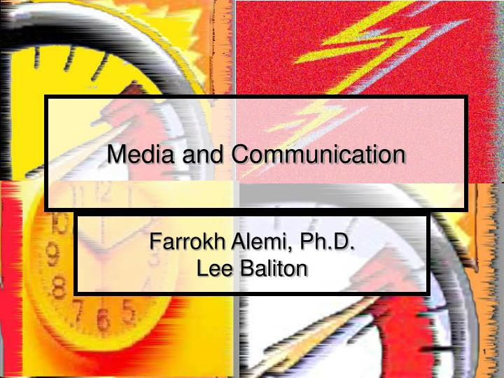 media and communication n.