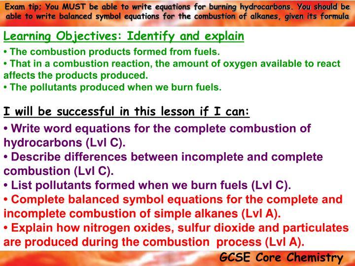 Ppt Keywords Carbon Monoxide Unburnt Hydrocarbons Particles