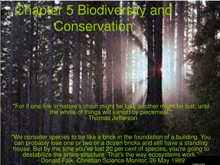 Chapter 5 biodiversity and conservation