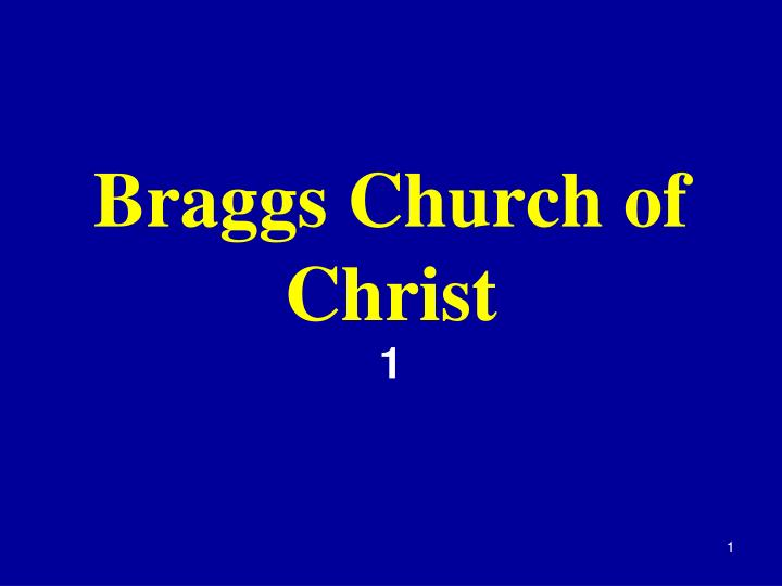 braggs church of christ n.