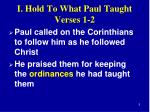 i hold to what paul taught verses 1 21