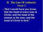 ii the line of authority verse 3