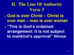 ii the line of authority verse 31