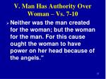 v man has authority over woman vs 7 101